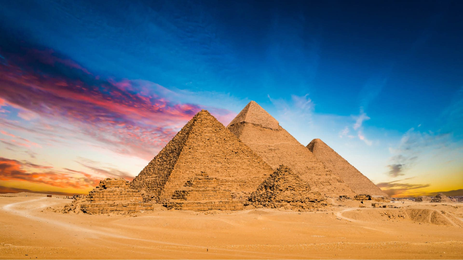 The Great Pyramid of Giza - Great Sphinx of Giza